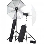 Elinchrom D-Lite RX 2/2 2-Head Umbrella To Go Kit inc. Skyport Plus