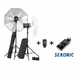 Elinchrom BRX 250/250 2-Head Umbrella To Go Kit inc. Skyport Plus & Sekonic 478 Meter