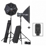 Elinchrom BRX 500/500 2-Head Softbox To Go Kit inc. Skyport Plus