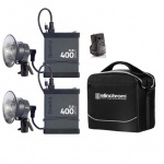 Quadra ELB 400 Two Pro Head, Twin Pack Poly Case Kit