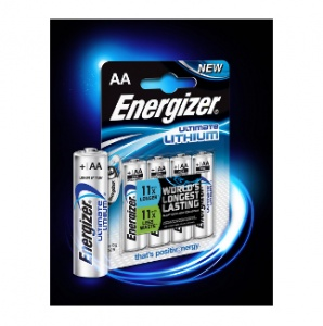 Energizer Ultimate Lithium Batteries AA 4 Pack