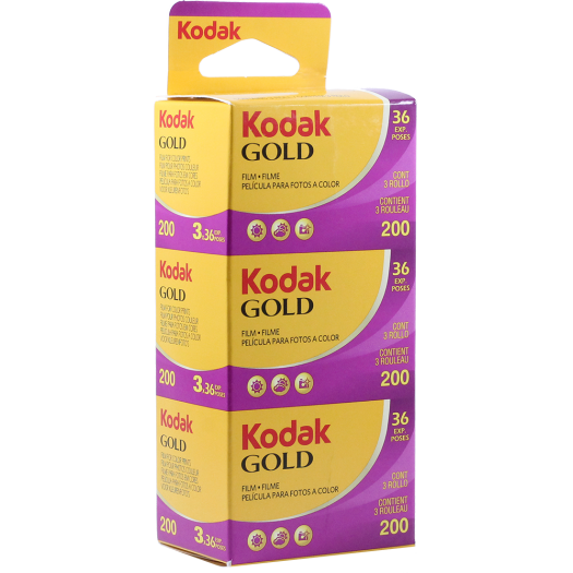 Kodak Gold 200 135-36 Film - 3 Pack