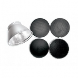 Elinchrom Reflector 21cm (8'') with Grid Set (26141 + 26052 + 26053 + 26054 + 26055)