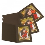 Kenro Brown Upright Photo Folders